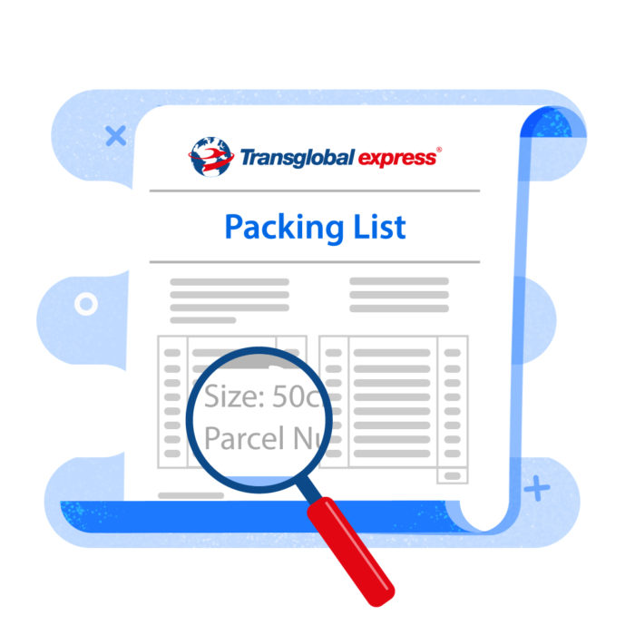 How to complete your Packing List